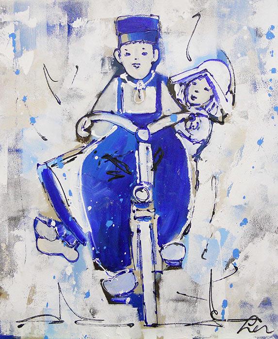 Artmotiv - Delfts-Blauw-op-de-fiets