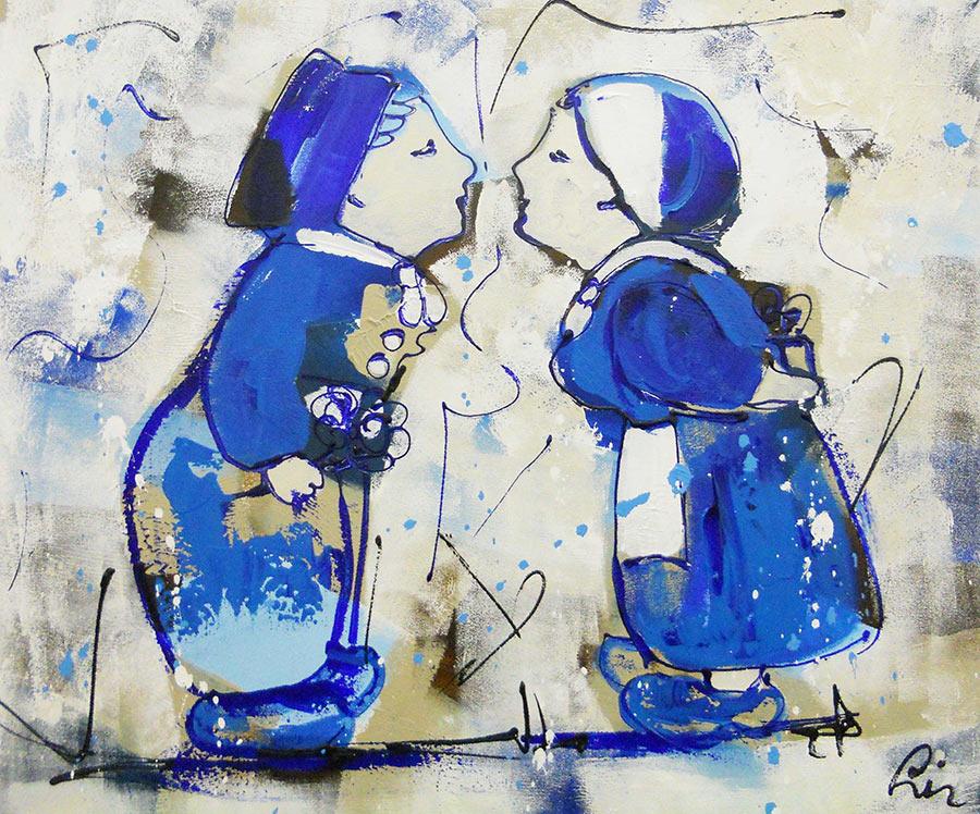 Artmotiv - Delfts-blauw-kusje