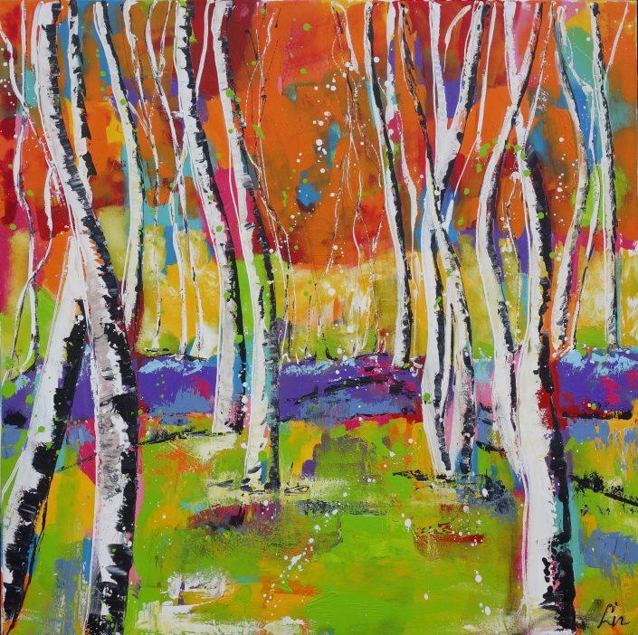 Artmotiv - Pien - Gekleurd bos